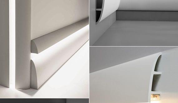 coole wohnideen fr raumbeleuchtung mit modernen led sockelleisten - Wohnideen Led