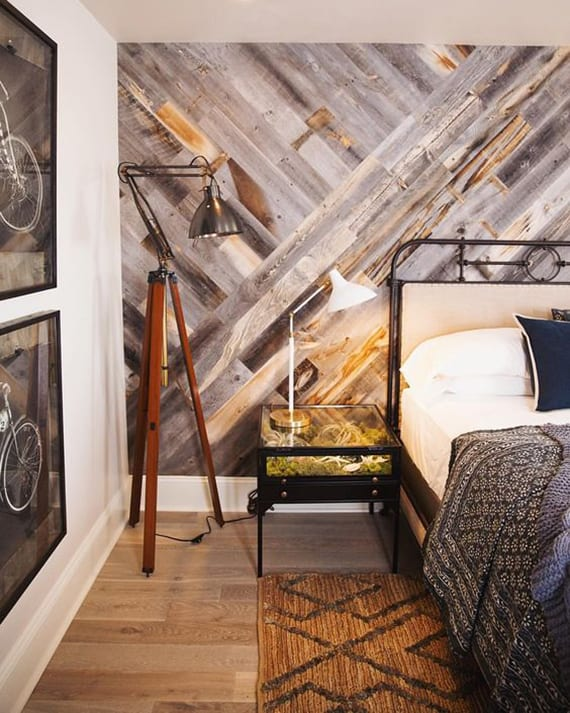 Schlafzimmer ideen wandgestaltung holz  Originelle Wandgestaltung Ideen mit Parkett - fresHouse