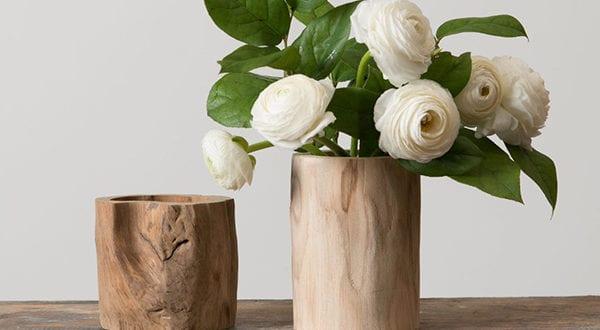 Rustikale Note dem Interieur verleihen mit einer DIY Vase aus Baumstamm oder Borke