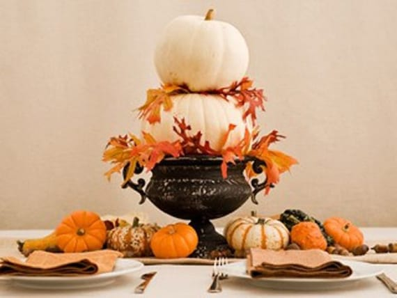 50 tolle herbstliche tischdeko ideen f r einen festlich gedeckten tisch freshouse - Herbstdeko kurbis ...