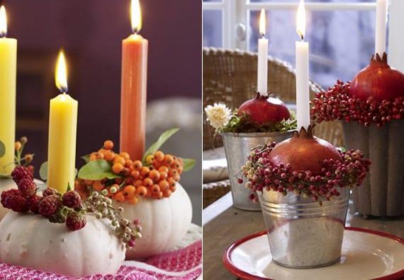 schöne bastelideen herbst mit herbstfrüchten und beerenzweigen