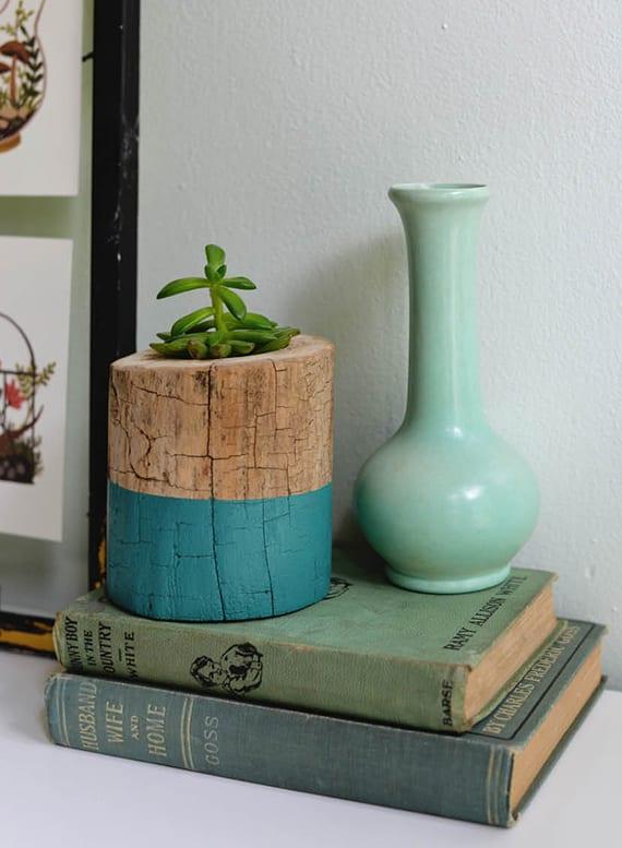 kreatives basteln mit holz für originelle DIY Dekoration
