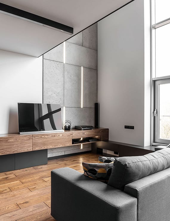 schickes apartement design einer m nnerwohnung freshouse. Black Bedroom Furniture Sets. Home Design Ideas