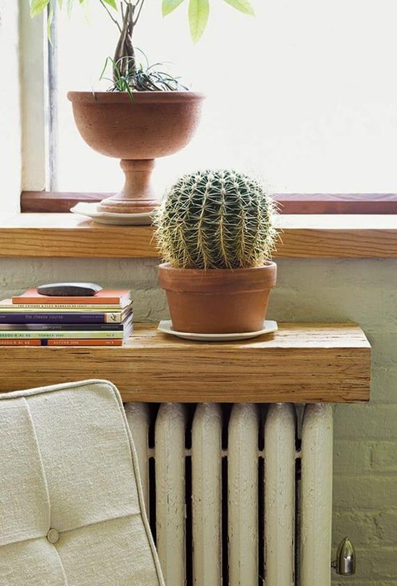 coole wohnideen für raumdekoration mit DIY heizkörper-holzregal