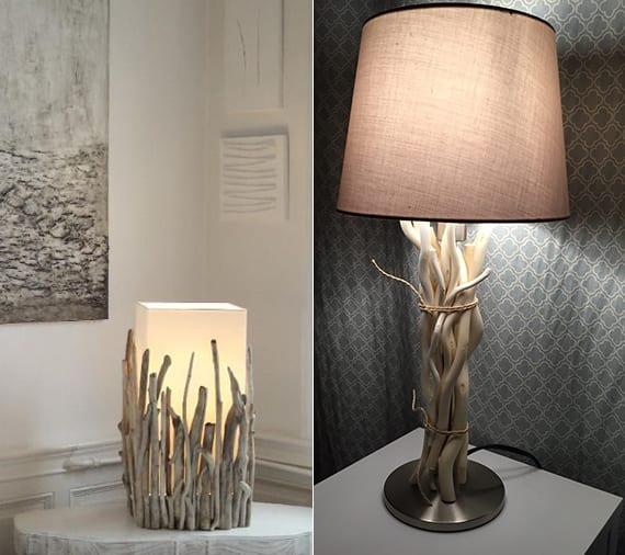 laterne und lampen selber basteln mit treibholz stücken als originelle zimmerdekoration im rustikalen stil
