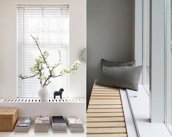 modernes wohnzimmer gemütlich gestalten in weiß, grau und holz