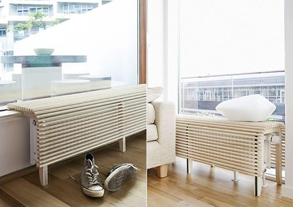 moderne raumgestaltung mit hellem parkett und gemütlicher sitzecke am fenster