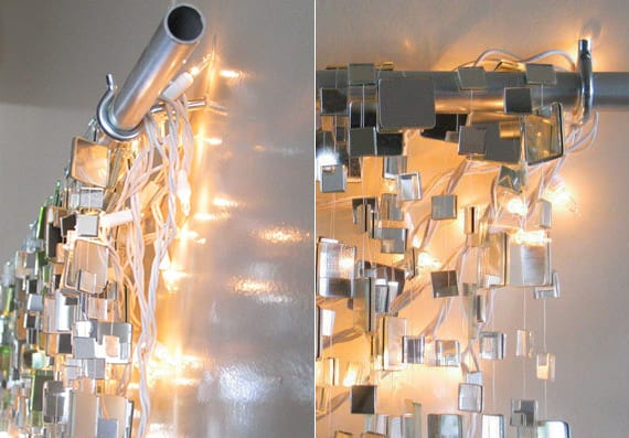 DIY Weihnachtsdeko ideen mit lichterketten für fröhliche wanddekoration