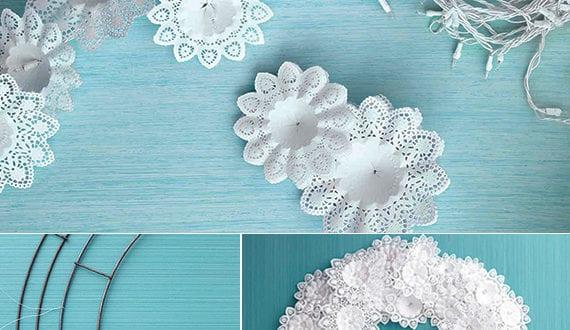 Fantastische weihnachtsdeko selber basteln mit lichterkette und biedermeiermanschetten bouquet - Leuchtende weihnachtsdeko ...