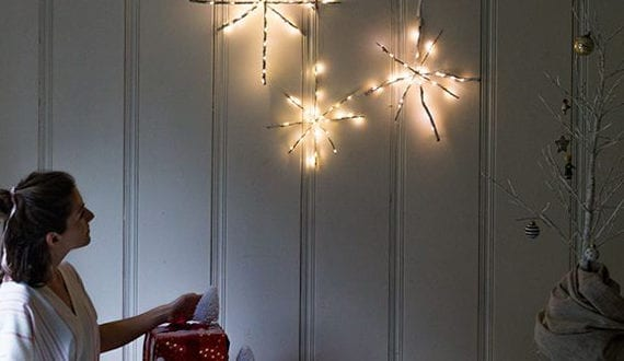 kreative wanddeko weihnachten mit diy schneeflocken aus. Black Bedroom Furniture Sets. Home Design Ideas