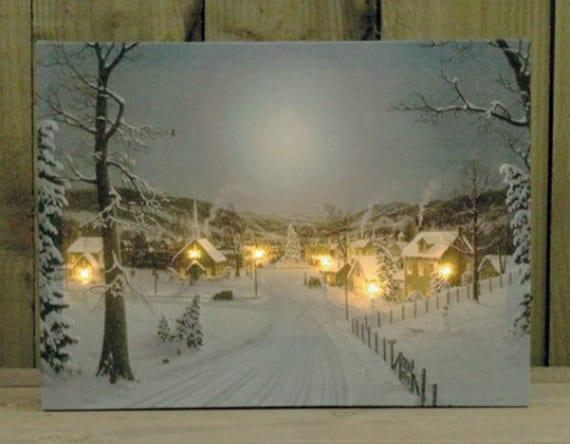kreative bastelideen für leuchtende bilder und leinwände als originelle weihnachtsdeko