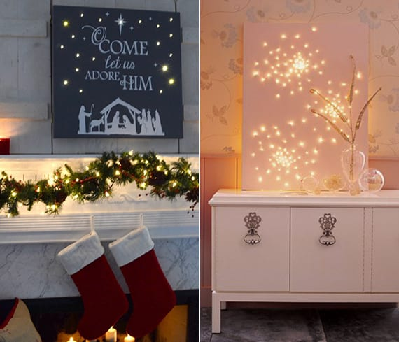 leuchtende weihnachtsdeko ideen f r wand freshouse. Black Bedroom Furniture Sets. Home Design Ideas