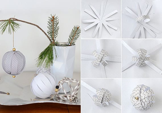 kreatives weihnachtsbasteln mit papier