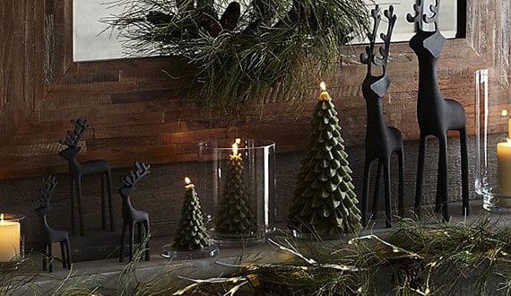 rustikale weihnachtsdeko idee mit schwarzen hischfiguren. Black Bedroom Furniture Sets. Home Design Ideas